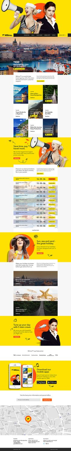 Milimo Travel Agency by Firman Suci Ananda, via Behance