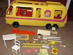 Vintage 1973 Barbie Doll Motor home Eleganza GMC Camper Bus ++ Accessories Retro   eBay