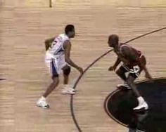 Allen Iverson as a young gun crossing up the Greatest, Michael Jordan. #TheAnswer