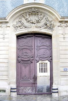 The Most Beautiful Doorway in Paris: Rue de Varenne by curry15, via Flickr