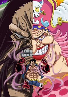 Manga Anime One Piece, Anime Manga, Anime Art, One Piece Wallpaper Iphone, New Wallpaper, Luffy Gear 4, Anime Version, Fan Picture, One Piece Luffy