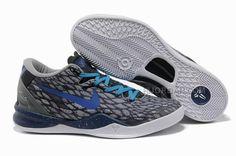 reputable site 3f65d fa9f3 Nike Kobe 8 System Basketball Shoe Snake Gray Black, Price   54.00 - Air  Jordan Shoes, Michael Jordan Shoes