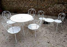 Salon de jardin Vintage en fer forgé