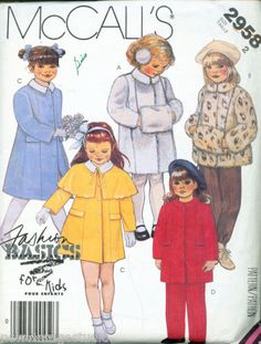 McCalls-2958-1987-Toddlers-Coats-Jacket-Cape-Pants-and-Muff-S2-FF