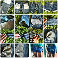 Hey guys! Here's the step-by-step guide on how to alter your old pair of jeans to shorts with 2 cute little bow on the back pockets. ...