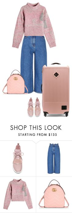 """6.226"" by katrinattack ❤ liked on Polyvore featuring Kendall + Kylie, Valentino, 3.1 Phillip Lim, Gucci, Herschel Supply Co., airport, airportfashion, airportstyle and polyvorefashion"