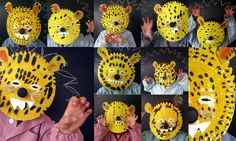 paper plate tiger faces