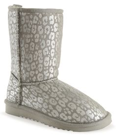 Metallic Animal Sherpa Boot