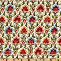 Flannel Antique Floral Multi  Item Number: EQ-825