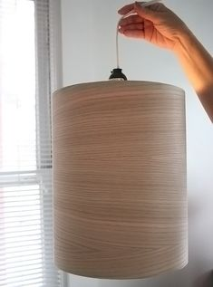 DiY Wood pendant light | tutorial at Mallorie Makes Things
