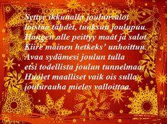 Tulostettavat runokortit joulukortteihisi Christmas Greetings, Merry Christmas, Xmas, Bullet Journal, My Love, Merry Little Christmas, Yule, Merry Christmas Love, Christmas Cards