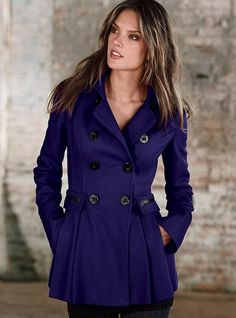 Victoria's Secret Skirted Peacoat...this only thing that would look nice on me from that place!!!