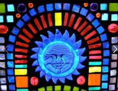Stained Glass Mosaic made for my friends Mary and John Mosaic Diy, Mosaic Crafts, Mosaic Glass, Stained Glass, My Friend, Friends, Arts And Crafts, Diy Crafts, Glass Blocks