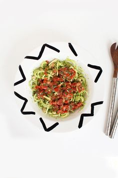Tomato Basil Broccoli Noodle and White Bean Salad