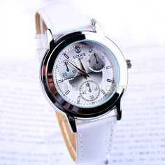 White Imported Movement Wrist Watch