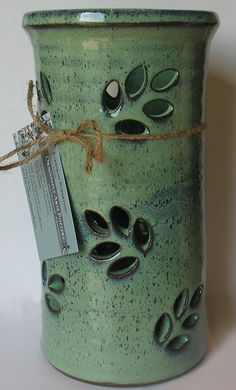 "Pottery - 6"" Utensil Pot - DragonflyArts - Craft Cafe .. aboslutely LOVE pottery <3 its been a family tradition for years!"