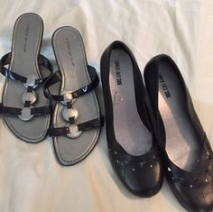Lot of 2 Pair Womens Shoes Size 12 Montego Bay Club Lower East Side Slip On | eBay