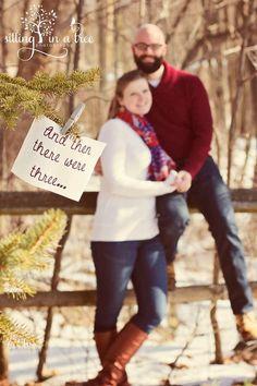 Winter pregnancy announcement www.facebook.com/SIATphotography