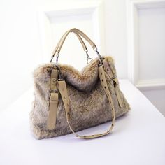 Faux Rabbit Hair Fur Bag Top Quality Women bags handbag PU Leather Patchwork Rivet Handbag Vintage Shoulder Crossbody Bag-in Shoulder Bags from Luggage & Bags on Aliexpress.com | Alibaba Group