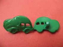 6 KINDERKNÖPFE grün 18mm x 12mm (1381-7) Knöpfe