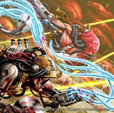 "Client: Games Workshop – Sabertooth Games Destination: Warhammer 40000 ccg ""Dark Milleium"". Set: Prophesies Peril Technique: Digital colouring All rights reserved"