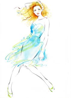 Katharine Asher Illustration Portfolio – figurative traditional illustrator, advertising film illustrations