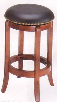 "Cherry Finish Wood 24""H Swivel Bar Stool High Chair by Acme Furniture. $43.20. Some assembly may be required. Please see product details.. Cherry Finish Wood 24""H Swivel Counter Height Stool Chair. This is a brand new cherry finish wood swivel bar stool. This item will make a great addition to any kitchen, bar, or dining room setting. The black vinyl seat swivels as an added functionality to the stool and has cross bars for leg resting. This stool makes a great addition to seati..."