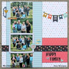 My Creative Scrapbook- Kit Club Fancy Pants Designs- Family & Co. Scrapbooking, Papercrafting