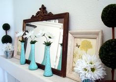 Paint the inside of dollar store vases