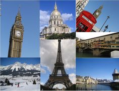 London, Paris, Lucerne, Florence & Ellmau