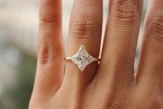 GIA Certified Marquise Diamond Engagement Ring, 1.47 CTW Three Stone Diamond RingGIA Certified Marqu