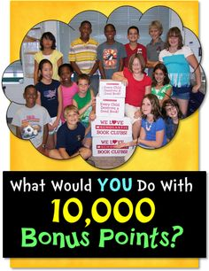 Corkboard Connections: What Would YOU Do with 10,000 Bonus Points? Learn how you can get 10,000 Scholastic Bonus Points using the September catalogue and this free packet of materials from Laura Candler.