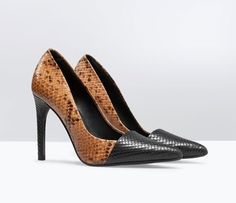 37.05$  Buy now - http://alislf.shopchina.info/go.php?t=32318944059 - Sexy Snake Veins Splice High Heels Women Pumps Spring Autumn Ladies Shoes Woman Chaussure Femme Zapatos Mujer sapatos femininos  #magazineonlinewebsite