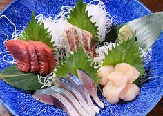 Sashimi (Raw Sliced Fish, Shellfish or rustaceans)
