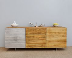 Silver leaf cupboard door on sideboard. An awesome design from MASH Studios.