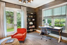 In this study there is a lot of then be done, but don't forget there is always time for relaxation. Decor, Relax, Room, House, Spacious Kitchens, Home, Porch Fireplace, Contemporary Decor, Spacious