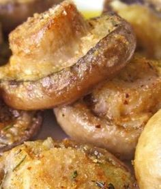 Roasted Mushrooms with Garlic & Thyme | Food- Mafia