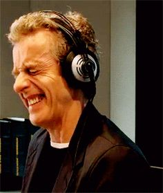 Watch a few interviews with Peter Capaldi and you learn more about him that's pretty cool! Musician, comical, was in a rock band, dropped acid when he was young (Not cool) and did it with Craig Ferguson, is closer to my age and is now the new Doctor Who! I just fell in love with him! :)