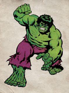 Sal Buscema Hulk, circa 1977.