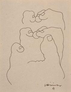 """Eduardo Chillida (1924-2002), """"Manos"""", 1984"""