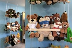 I've spent some time hunting for a good organization system for my boys' stuffed animals. I've seen hammocks which hang in a corner of the room (won't work because there's no free corner in their bedroom) and large custom built stuffed animal zoos ($200+) and bookshelves with dowels running down the front so kids can …
