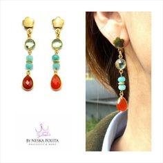 Pendientes Dafne #jewels ❤ www.byneskapolita.com ❤