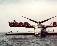 """the KM """"Caspian Sea Monster"""" ekranoplan - it flew reliably for 15 years, until pilot error caused it to sink in 1980"""
