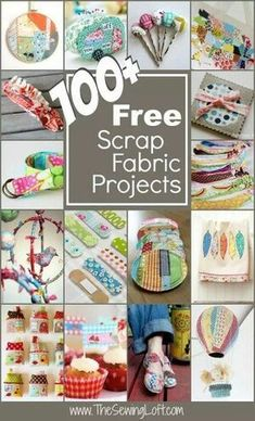 Diy Sewing Projects 100 Scrap Fabric Projects Rounded Up in one place. The Sewing Loft - Clear out your left over fabrics with over 100 free scrap fabric projects. This mega list will have you sewing your stash and ready for a shopping trip! Scrap Fabric Projects, Easy Sewing Projects, Sewing Projects For Beginners, Fabric Scraps, Sewing Hacks, Sewing Tutorials, Sewing Crafts, Craft Projects, Sewing Tips