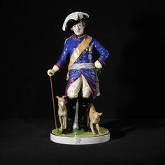 Friedrich der Große mit Hunden - Figuren