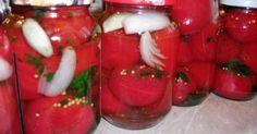 Pomidory z pietruszką i czosniem na zimę, justyś, mama i pomocnicy Caprese Salad, Smoothies, Salads, Food And Drink, Stuffed Peppers, Vegetables, Cooking, Recipes, Pickling