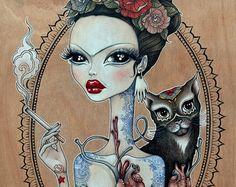5 x 7 Fine Art Print-Frida hart van FairRosamund op Etsy