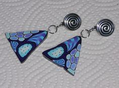 """Ohrclips - Ohrclips """"Dreieck in Violett-Blau"""" - ein Designerstück von iCo-Design bei DaWanda"""