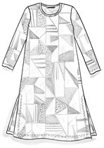 Square dress in eco-cotton – Gloriously colorful – Gudrun Sjödén