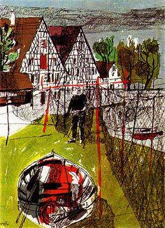 Hugo Wetli Switzerland tourism illustration